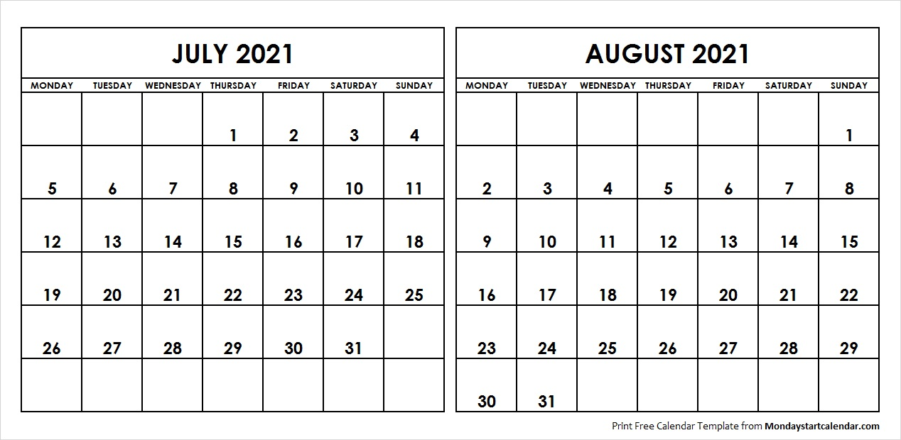 June To August 2021 Calendar Pictures