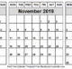 Oct Nov Dec 2019 Calendar Word