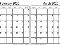 February March 2020 Calendar Holidays Philippines