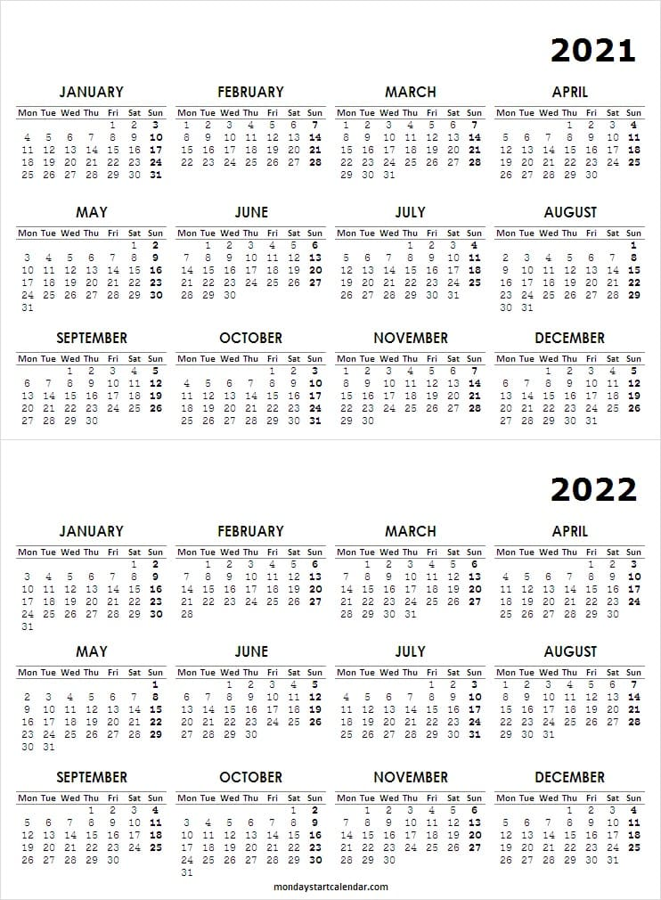 2021 to 2022 Pocket Calendar