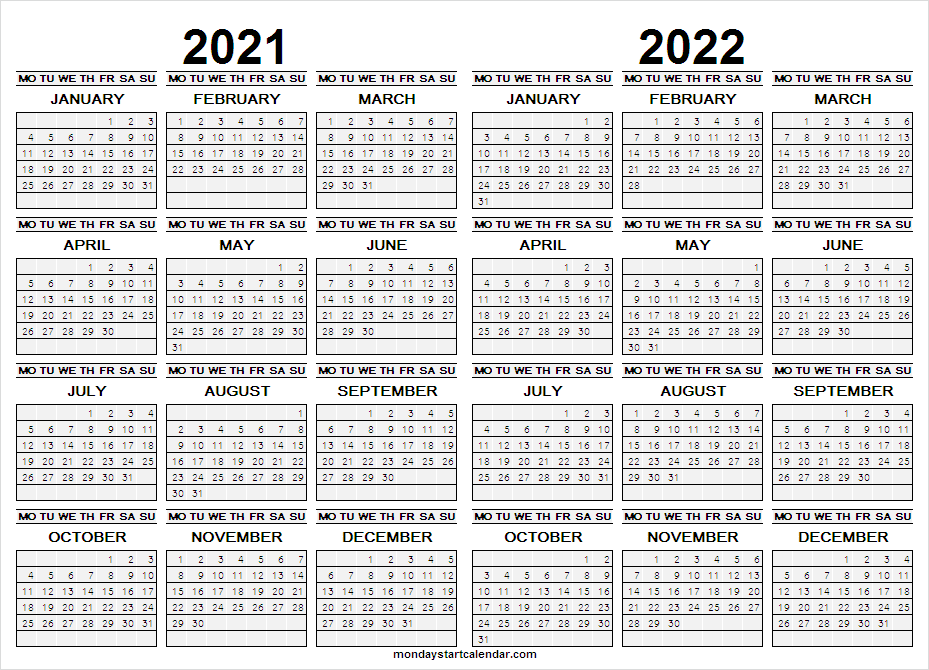 Calendar 2021 to 2022 Download
